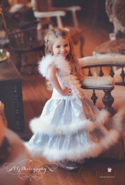"""Ice Princess""...A Marabou Trimmed Dream Dress"