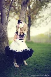 """Parisian Soiree""... A Satin & Feather Dress For Little Ladies"