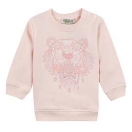 Kenzo, zalm roze sweater met tijger
