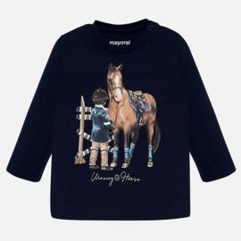 Mayoral, donkerblauwe longsleeve met paard
