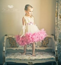 """Elizabethan Bride""... A Delightful Feather Tutu Dress"
