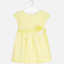 Mayoral, gele jurk met polkadots