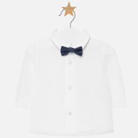 Mayoral, off white overhemd met strikje