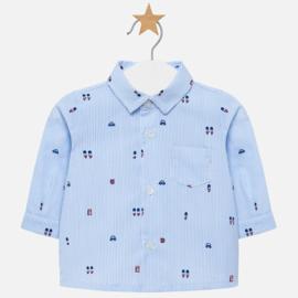 Mayoral, blauw gestreept overhemd Britsch
