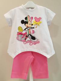 Ruba Cuori, 2-delig setje Minnie Mouse fushia/wit