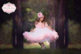 Pretty In Pinks Girls Feather Ruffled Dress
