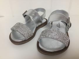 Florens, zilveren sandalen met strass