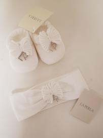 La Perla, witte haarband met sokjes met strass LP