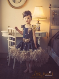 """""""La Reine d`Or""""...A Gorgeous Gold And Black Feathered Dress"""