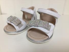 Florens, witte sandaaltjes met strass strik