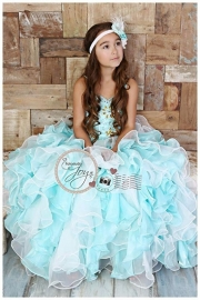 """   """"Majestic Skyline""""... An Exquisite Corset Style Satin & Organza Gown"""