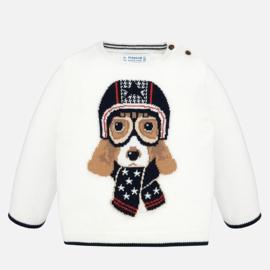 Mayoral, witte trui met hond