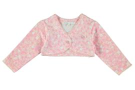 Le Chic Newborn, roze bolero met bloemetjes