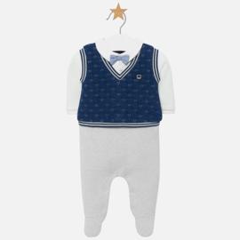 Mayoral, blauw/grijs babypakje