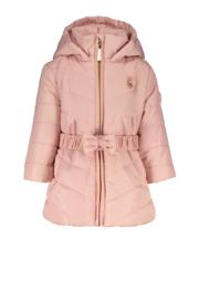 Le Chic, roze winterjas met riempje