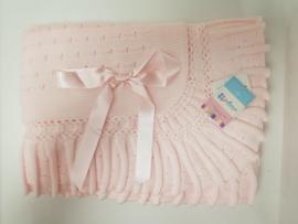 Vistiendo Bebes, roze deken 755