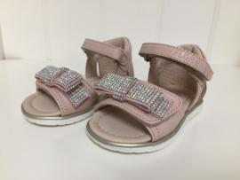 Florens, nude sandaaltjes met strass strik