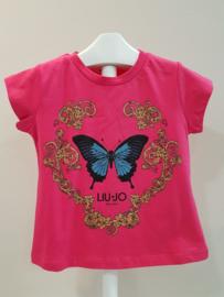 Liu Jo, fushia shirt met vlinder