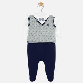 Mayoral, donkerblauw/grijs babypakje