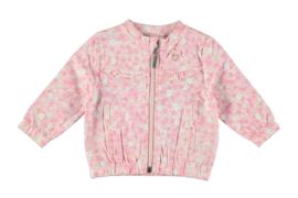 Le Chic Newborn, roze bloemen joggingpakje