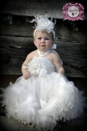 """Here Comes The Bride"".. A Double layer Feather Tutu Dress"
