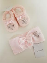 La Perla, roze haarband met sokjes