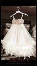 """Pure Indulgence""... The Perfect Flower Girls Dress"