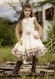 """The English Tea Garden""...A Satin Rosette And Lace Trim Dress"