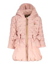 Le Chic, roze winterjas met strikjes