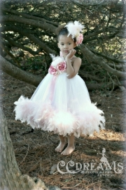 """A Rosebud Fairytale""...A Precious Tulle And Feather Tutu Dress"