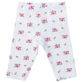 Monnalisa, witte legging met roosjes