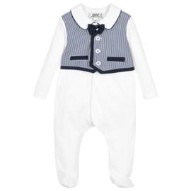 Aletta, wit/blauw babypakje