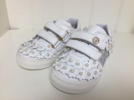 Blumarine, witte sneakers met parels