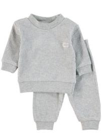 Feetje, grijze wafel pyjama