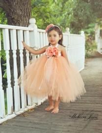 Peach Devine Tutu Dress
