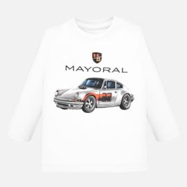 Mayoral, witte longsleeve met Porsche