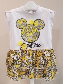 Ruba Cuori, jurkje Minnie Mouse geel/wit