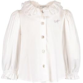 Monnalisa, creme blouse