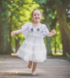 """""""Blu Vintage Rose""""...A Sweet Lace & Chiffon Dress"""