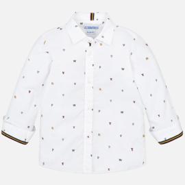 Mayoral, witte overhemd met letters