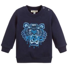Kenzo, donkerblauwe sweater met tijger