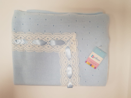 Vistiendo Bebes, blauwe deken 750