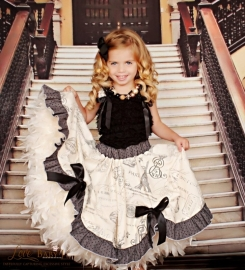 """""""Everlasting twirls & Swirls""""...A Parisian Inspired Circle Skirt with Lace Top"""