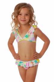 Kate Mack, multi colour bikini