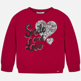 Mayoral, rode sweater Smile and love