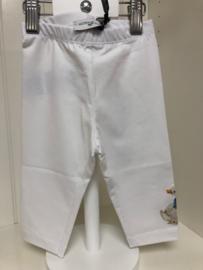 Monnalisa, witte legging met gansjes