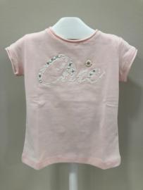 Elsy, zalm roze shirt Chic