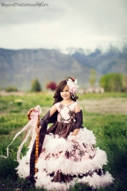 """""""Little Bo Pink""""...A Gorgeous Feather And Taffeta Dress"""
