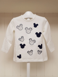 Ruba Cuori, creme/blauw longsleeve Minnie Mouse