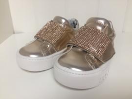 Liu Jo, rose gouden sneakers met strass